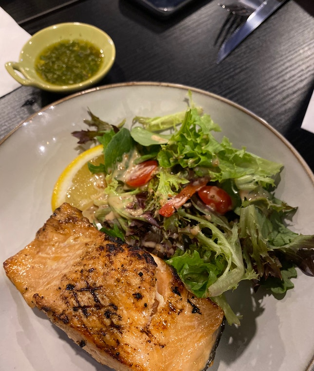 Charcoal Grilled Salmon ($18)