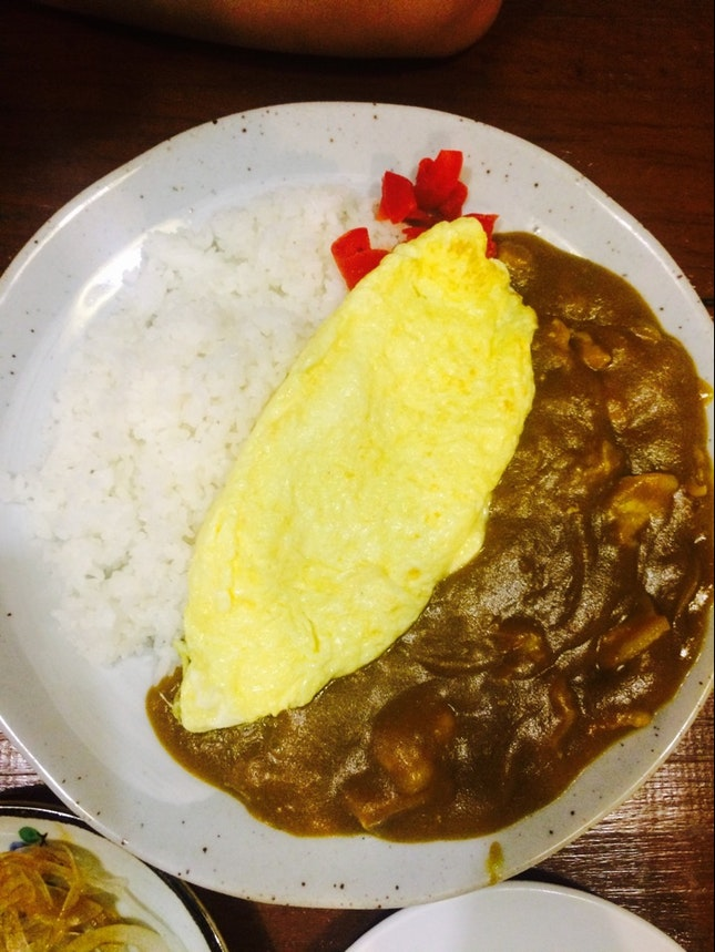 Eggy Omelette & Japanese Curry Rice