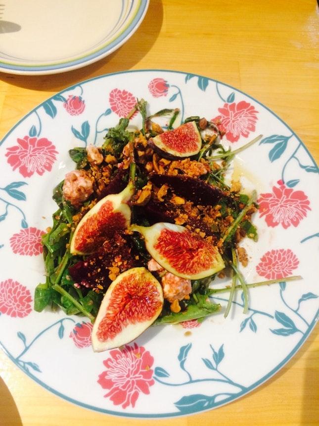 Beetroot, Fresh Fig & Feta Salad