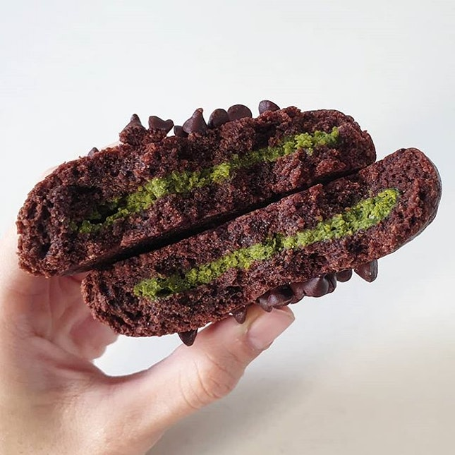 Stuffed Matcha Cookie