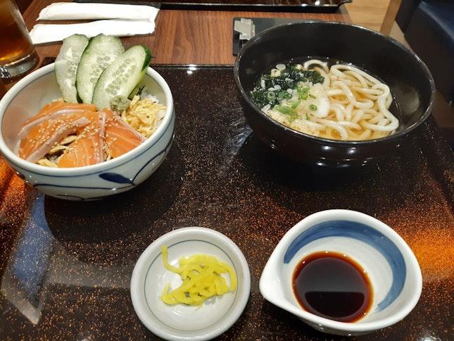 Salmon Don + Udon
