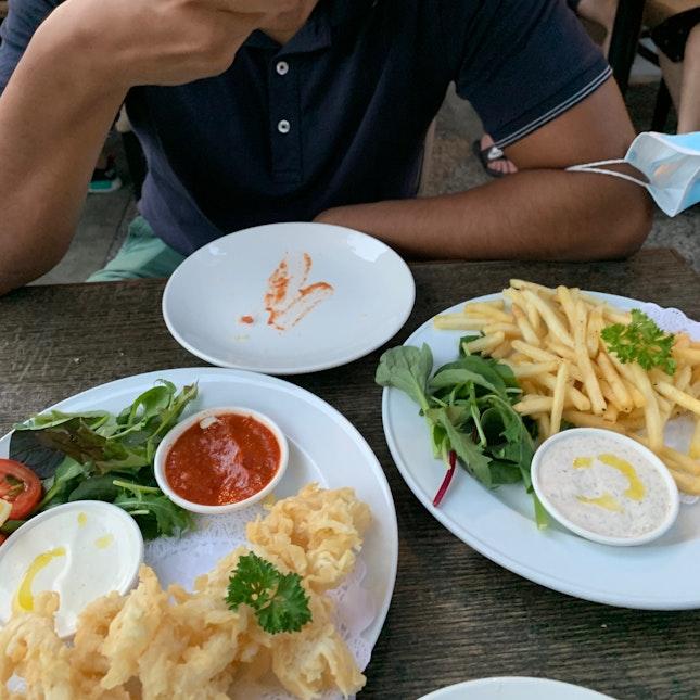 Calamari & Truffle fries