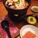 Beef and Salmon Sukiyaki Set