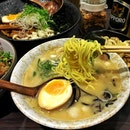 A good evening for a hearty bowl of ramen pair with sapporo beer.