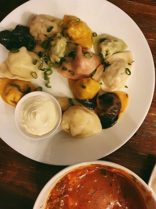 Russian Fud!! Dumplings!!!!