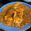 King Prawn Chaota Noodle ($40)