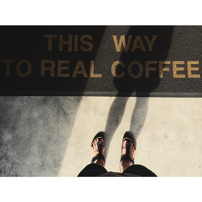 This way to real coffee xD  #coffee #coffeeaddicted #cafekl #cafe #city #life #living #walk #passby #real #way #cafehop