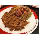 A taste will make u smile 😊 ~ #diet #plan #fail #midnite #fat #sweet #dipdip #waffle #dessert