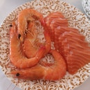 Fresh Sashimi And Prawns!