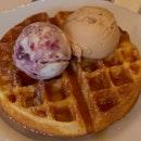 okay ice cream waffle