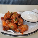 Carolina BBQ Wings ($15)