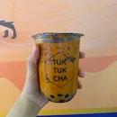 Gula Melaka Pearls with Thai Milk Tea ($4.50)