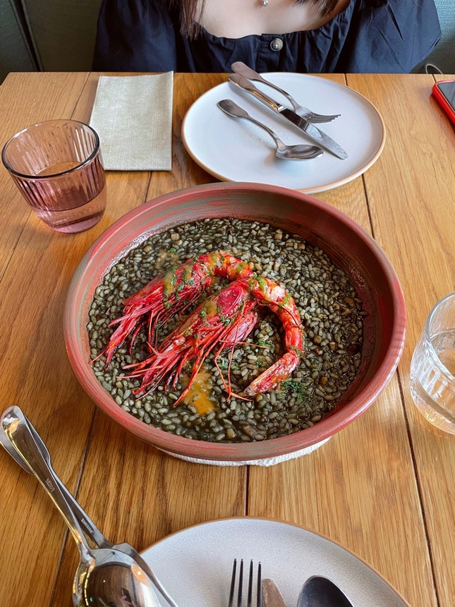 Black Rice with 'Carabineros' ($52)