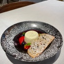 Panna Cotta in Red Wine Berry Soup ($16.90)
