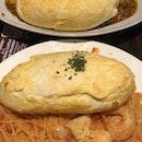 Cafe hoshino Soufflé Rice And Spaghetti