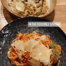 Truffle Carbonara and Crab Pomodoro