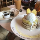Sweet Potato Triple Pancake & Hojicha Tiramisu