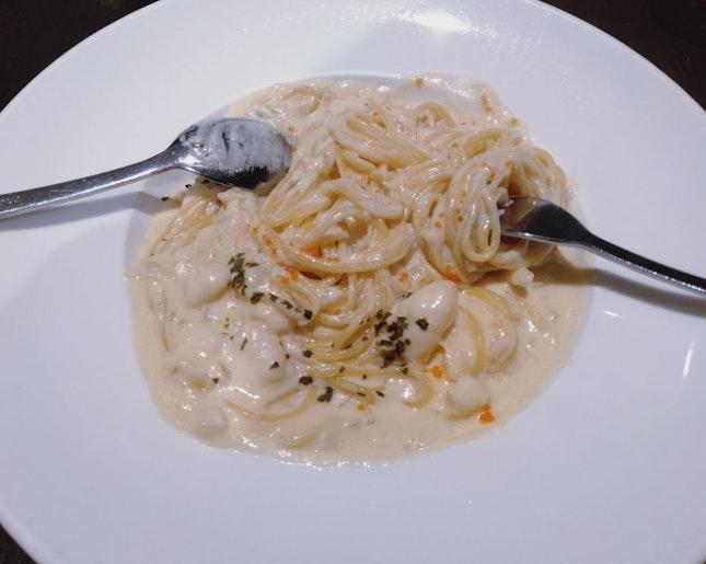 Crab Meat Garlic Pasta