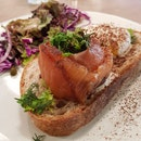 Coffee Smoked Salmon On Toast ($18.90)