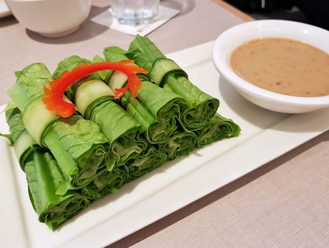 Lettuce Roll With Sesame Sauce ($8.80)
