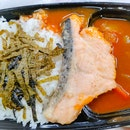 Salmon and curry rice