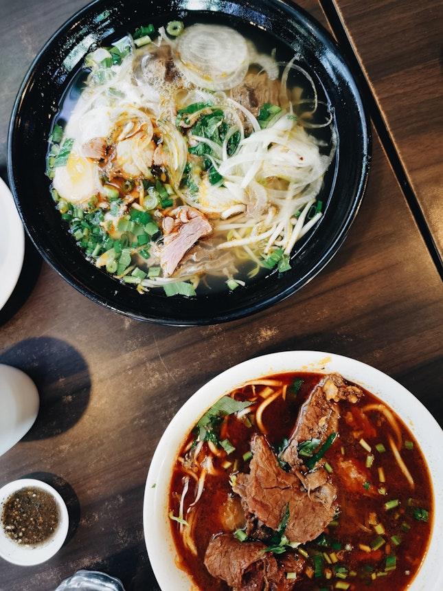 Pho Dac Biet ($8.90) And Hu Tieu Bo Kho ($7.90)