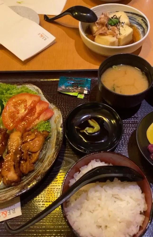 Chicken Teriyaki Ala Carte + Set (Rice, radish, pickled daikon)