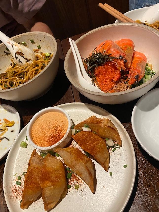 Fried Pierogi🥟, Smoked Duck🥟, Miso Mushroom, XO Prawn,