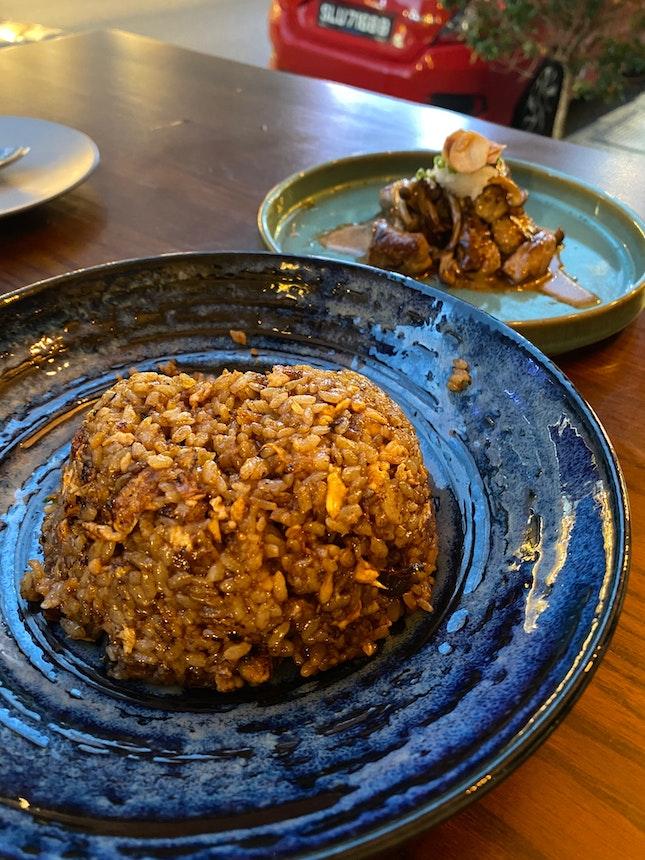 Unagi Fried Rice, Beef Cubes