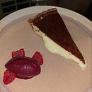Burnt Cheesecake with Sangria Sorbet