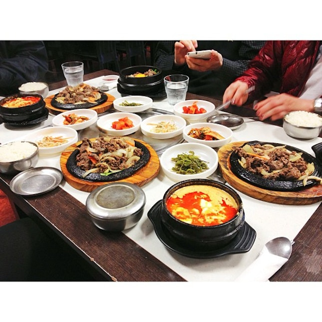 Korean food for lunch.