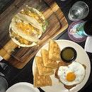 Chicken Waffles & Pulled Pork Tacos