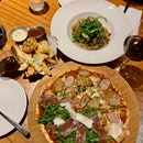 Nocturnal + Parma Ham Pizza ($24.50) + Garlic Truffle Fries ($12)