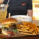 Classic Cheeseburger ($17.90) + Chilli Crab Pasta ($17.90)