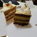 Chestnut Cake & Hojicha