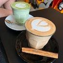 Chai Latte ($6), Matcha Latte ($6)