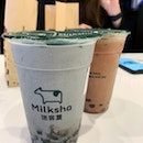 Black Sesame Milk ($5.50) With Honey Pearl