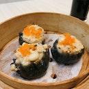 Steamed Charcoal Chicken & Shrimp Dumpling ($5.56)