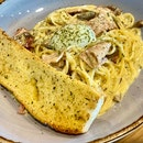 Spaghetti Carbonara ($15.90)