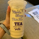 Roasted Sencha Milk Tea (L) | $4.90
