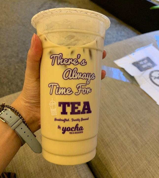 Roasted Sencha Milk Tea (L)   $4.90