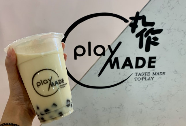 Taiwan Green Milk Tea W/ Sesame Pearls | $4