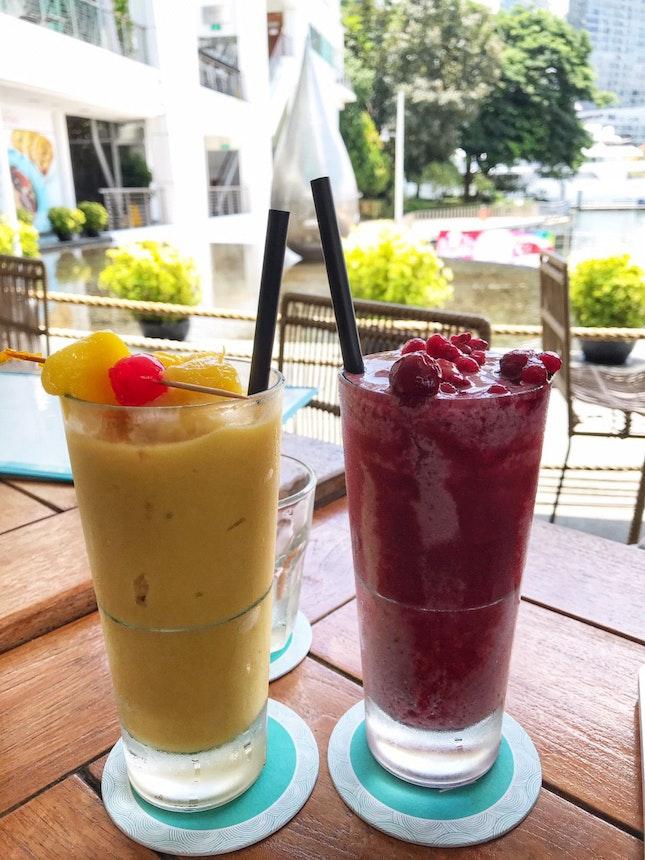Mango Passionfruit Smoothie & Berry Banana Smoothie | $10 Each