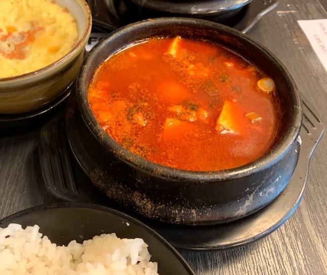Spicy Tofu Stew W/ Rice | $6.90 + $1