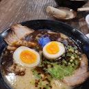 Black Tonkotsu W/ Flavoured Egg (Spicy) | $14.90