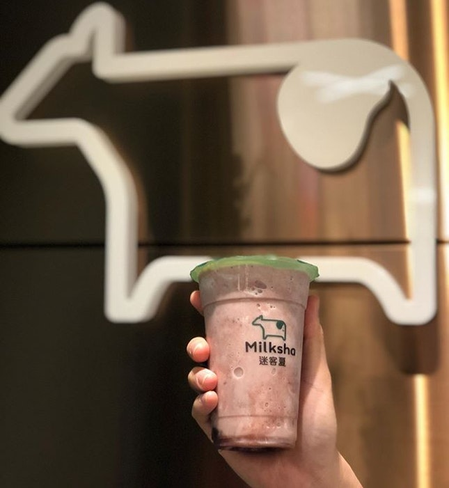 Milksha - Red Bean ice blended drink (5.40) Ultimate drink for red bean lovers!!!