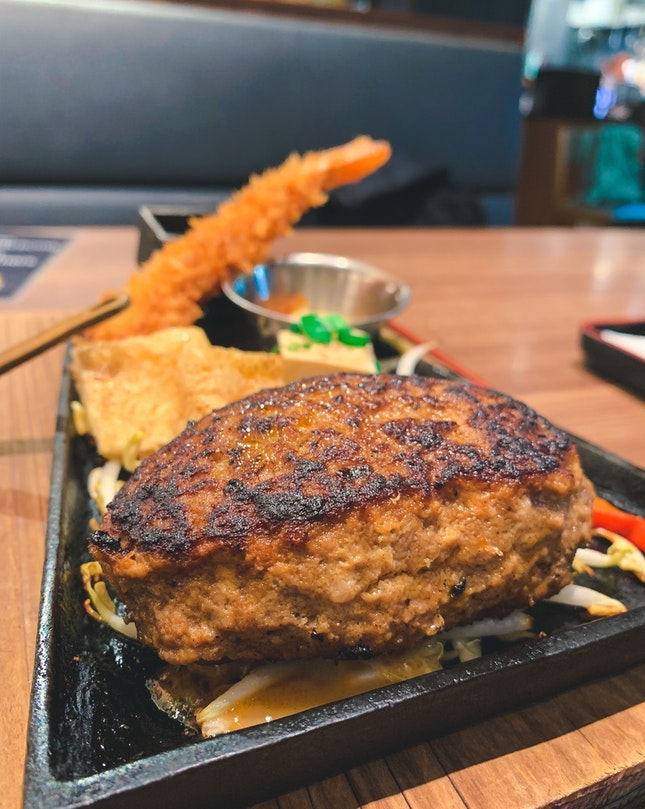 Triple Cheese Prime Hamburg Steak Set ($22.90)