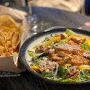 Simple Dinner on Salad n nacho