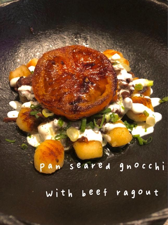 Pan Seared Gnocchi With Beef Ragu