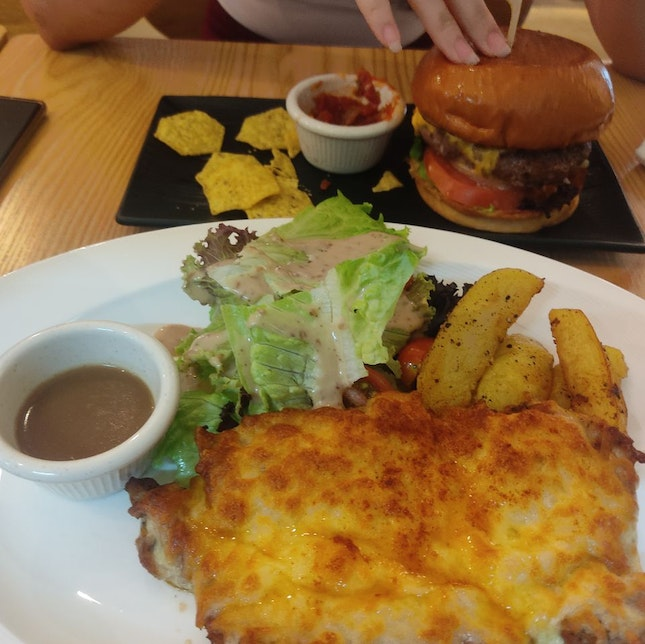 Cheese Chickens And Cheese Burger